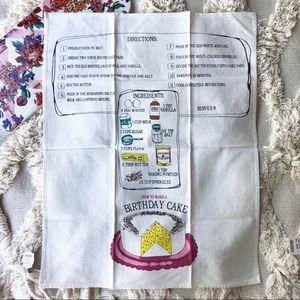 Anthropologie Kitchen - Anthropologie Kitchen Birthday Cake Tea Towel